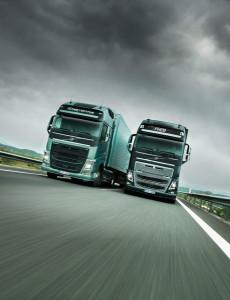 Two Volvo Trucks