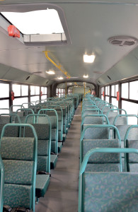 The spacious interior of the Lion's Explorer.