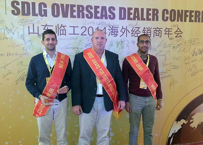 babcock team at SDLG construction equipment conference in Shanghai, China,