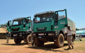 'Tested By Dakar' Iveco Trakkers were used for test drives; while guests were taken on a guided tour of the new CNH Industrial facility in Rosslyn.