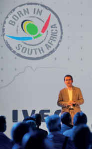 Iveco Brand International President, Pierre Lahutte, addresses the guests at the plant opening.