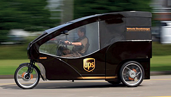 A greener vehicle from Courier company UPS - Energy-saving